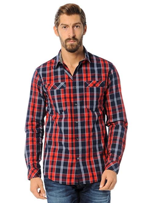 Jack & Jones Kareli Gömlek Kırmızı